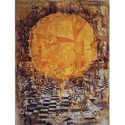Huile sur toile, 92 cm X 73 cm, 1970