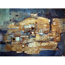 Huile sur toile, 73 cm X 54 cm, 1974