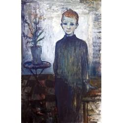 Huile sur toile, 81 cm X 54 cm, 1962