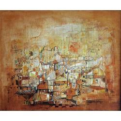 Huile sur toile, 65 cm X 54 cm, 1973