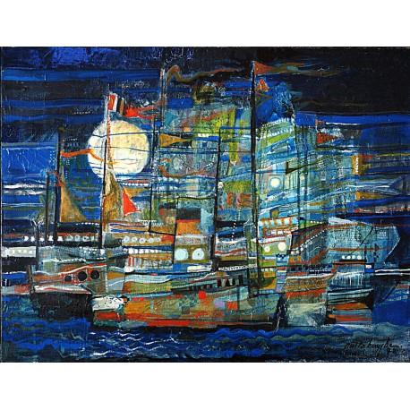 Huile sur toile, 65 cm X 54 cm, 1978