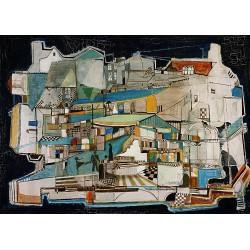 Huile sur toile, 80 cm X 60 cm, 1974