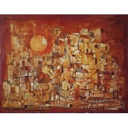 Huile sur toile, 65 cm X 54 cm, 1974