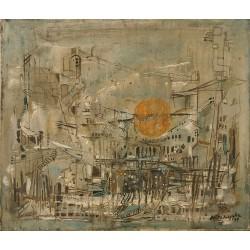 Huile sur toile, 55 cm X 45 cm, 1969