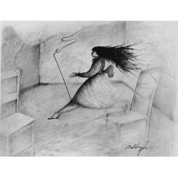 Encre et crayon, 65 cm X 32,5 cm, 1999