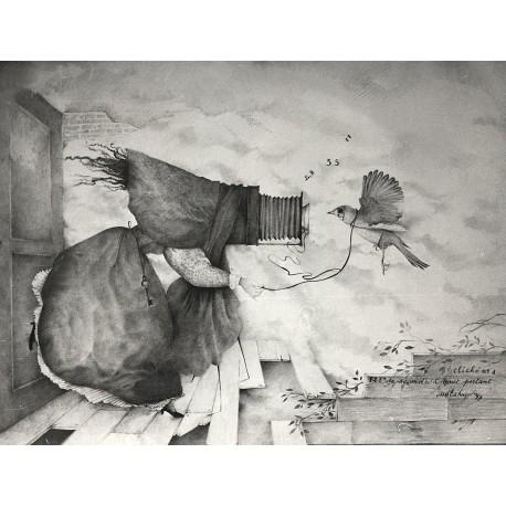 Encre et crayon, 65 cm X 50 cm, 1987