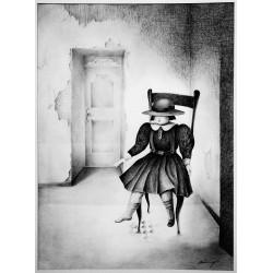 Encre et crayon, 65 cm X 50 cm, 1978