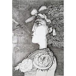 Encre, 50 cm X 32,5 cm, 1999