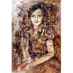 Huile sur toile 65 cm X 46 cm, 1970