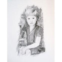 Encre et crayon 65 cm X 50 cm, 1970
