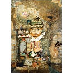 Peinture collages sur toile 116 cm X 81 cm, 1991