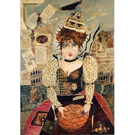 Peinture collages sur toile 116 cm X 81 cm, 1993