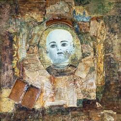 Peinture collages sur toile 100 cm X 100 cm, 1995